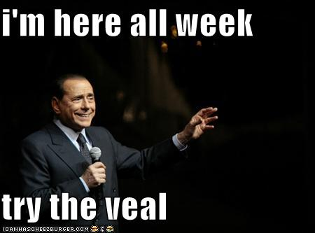 Image result for i'm here all week try the veal
