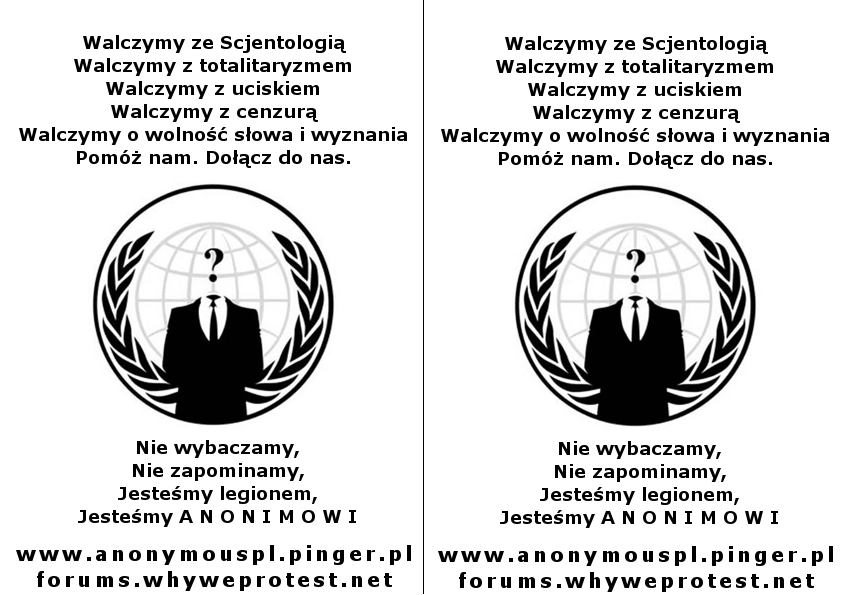 Plakaty Ulotki Why We Protest Anonymous Activism Forum