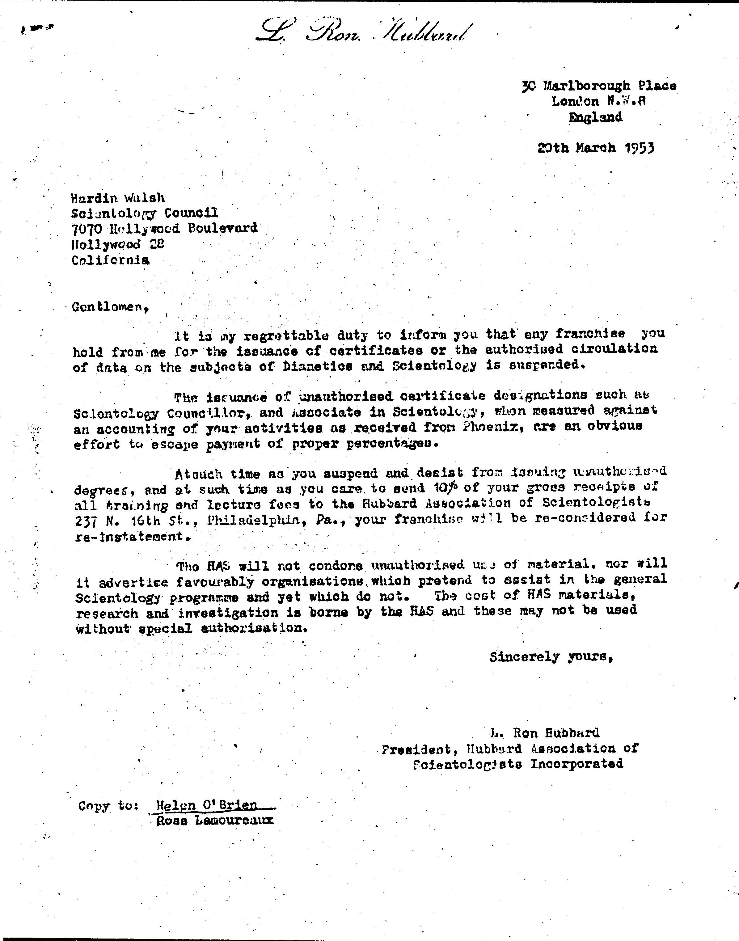 1953 cease and desist letter by hubbard why we protest cease and desistg thecheapjerseys Gallery