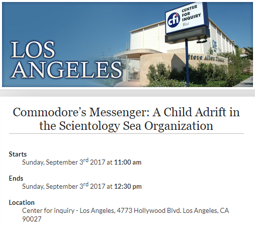 commodores messenger a child adrift in the scientology sea organization