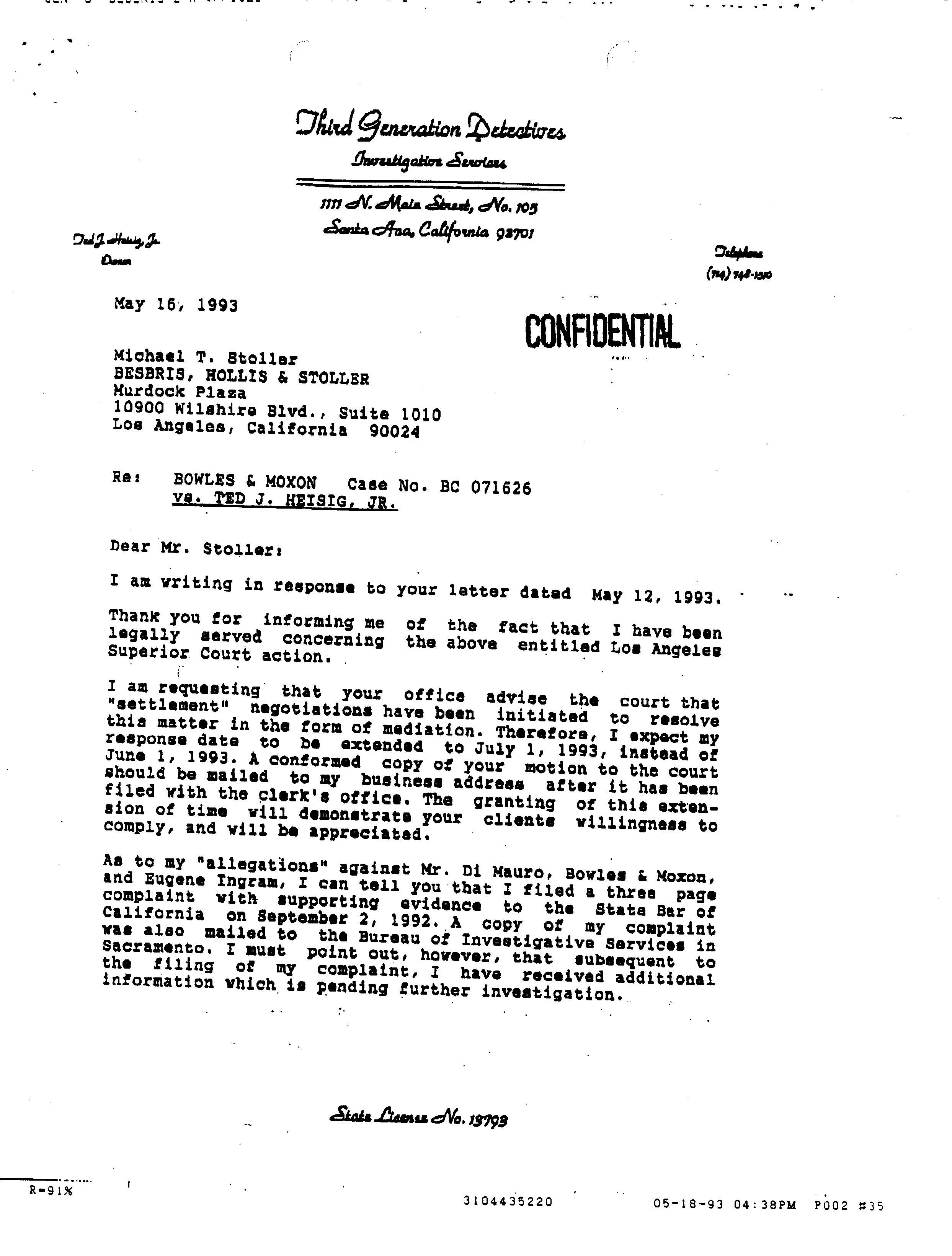 The Golden Days of OSA Ted Heisig writes to Michael Stoller Why We Protest