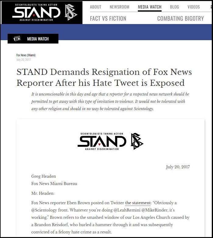 scientology\'s new front group: STAND | Why We Protest | Anonymous ...